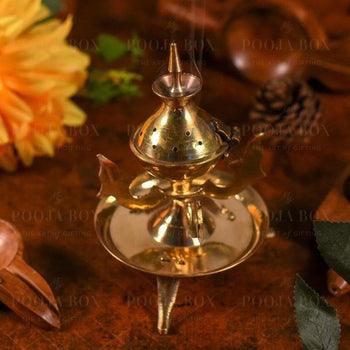Pretty Multipurpose Brass Dhoop/incense Holder Incense