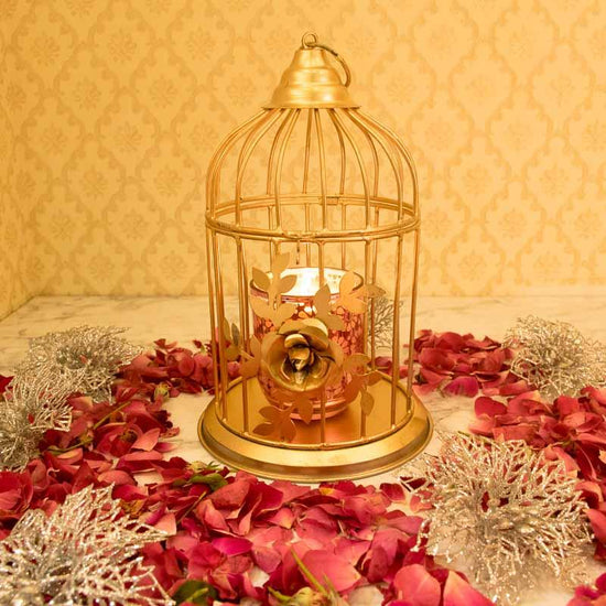 Exquisite Metal Bird-Cage Decorative Hanging Lantern