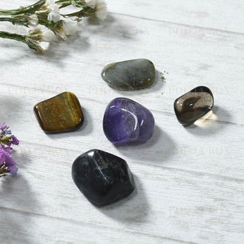 Protection Crystal Healing Tumble Stone Set Reiki