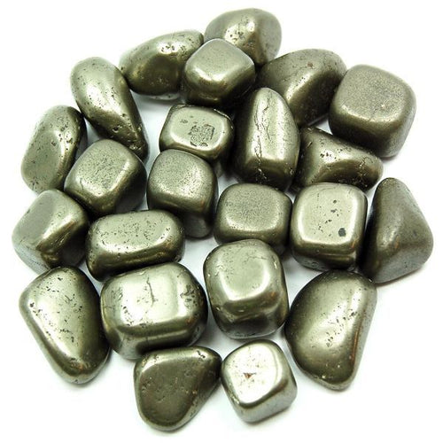 Pyrite Crystal Healing Tumble Stone Set