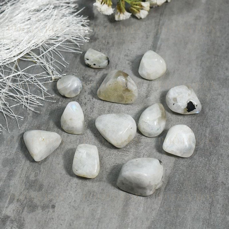 Rainbow Moon Stone Crystal Healing Tumble Setstone Of Lovers Reiki