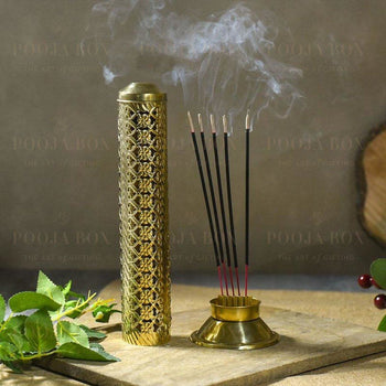Stunning Floral Brass Agarbatti Stand Incense Holder