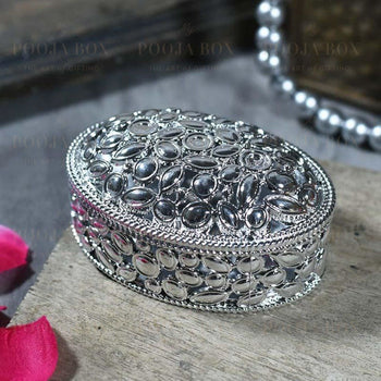 Stunning Silver Trinket Box Jewellery