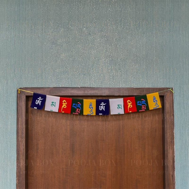 Tibetan Buddhist Prayer Flag Door Hanging