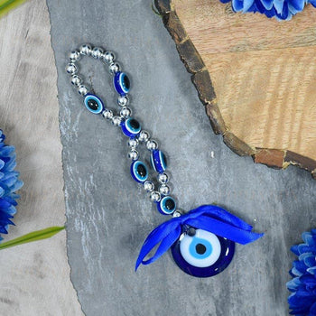 Turkish Evil Eye Beaded Wall Hanging Amulet Feng Shui