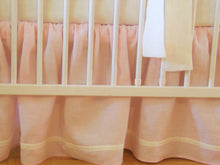 Pink Linen Crib Bedding Set - Girl Nursery - Moods The Linen Store