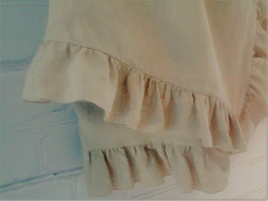 Ruffled Linen Blanket  -  pure linen summer blanket MOODS - Moods The Linen Store