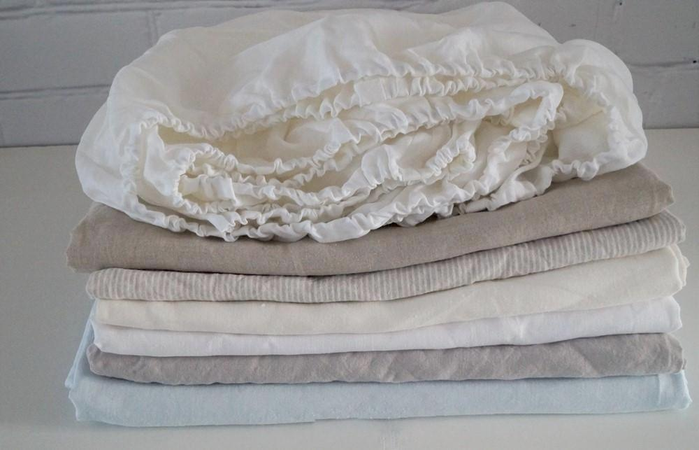 Crib  Fitted Sheet - linen sheet - Moods The Linen Store