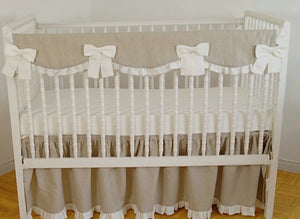 Crib Rail Cover - gender neutral  crib bedding - Moods The Linen Store