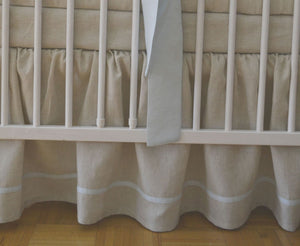 Linen Crib Bedding Set - Boy nursery - Moods The Linen Store