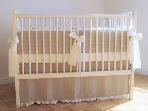 Linen Crib Bedding Set -  Nursery bedding - Moods The Linen Store