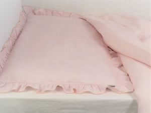 Linen Baby Bedding - girl bedding