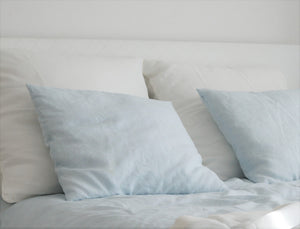 Blue Linen Pillowcase - Moods The Linen Store