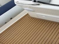 7.8m Ballistic Rib Flooring in Synthetic Teak