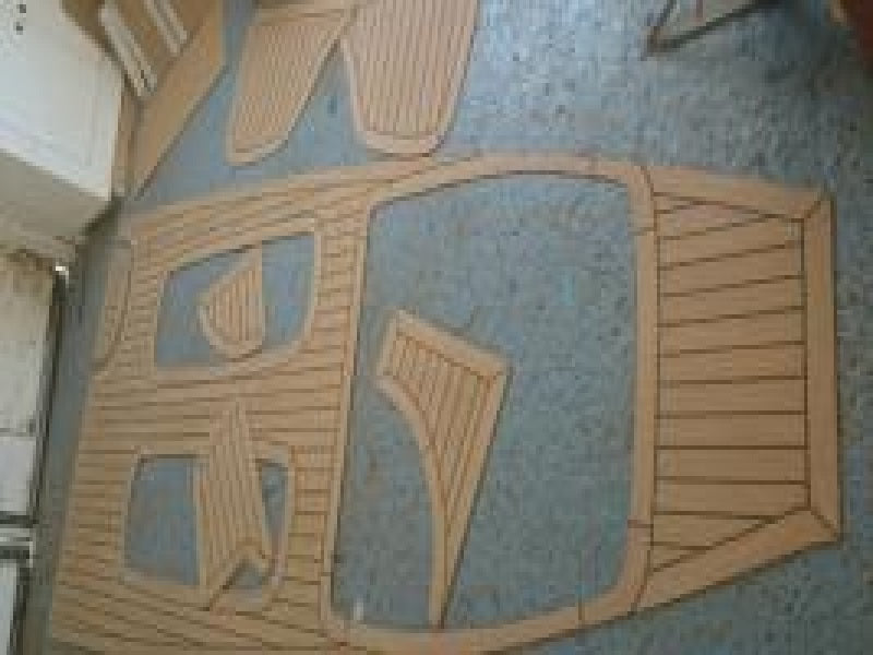 Humber 5.7 Ocean Pro Rib Flooring in Synthetic Teak