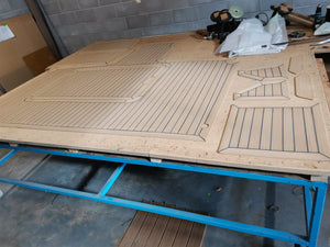 Fairline 37 Corsica. Fairline Powerboat Synthetic Teak Decking Panels