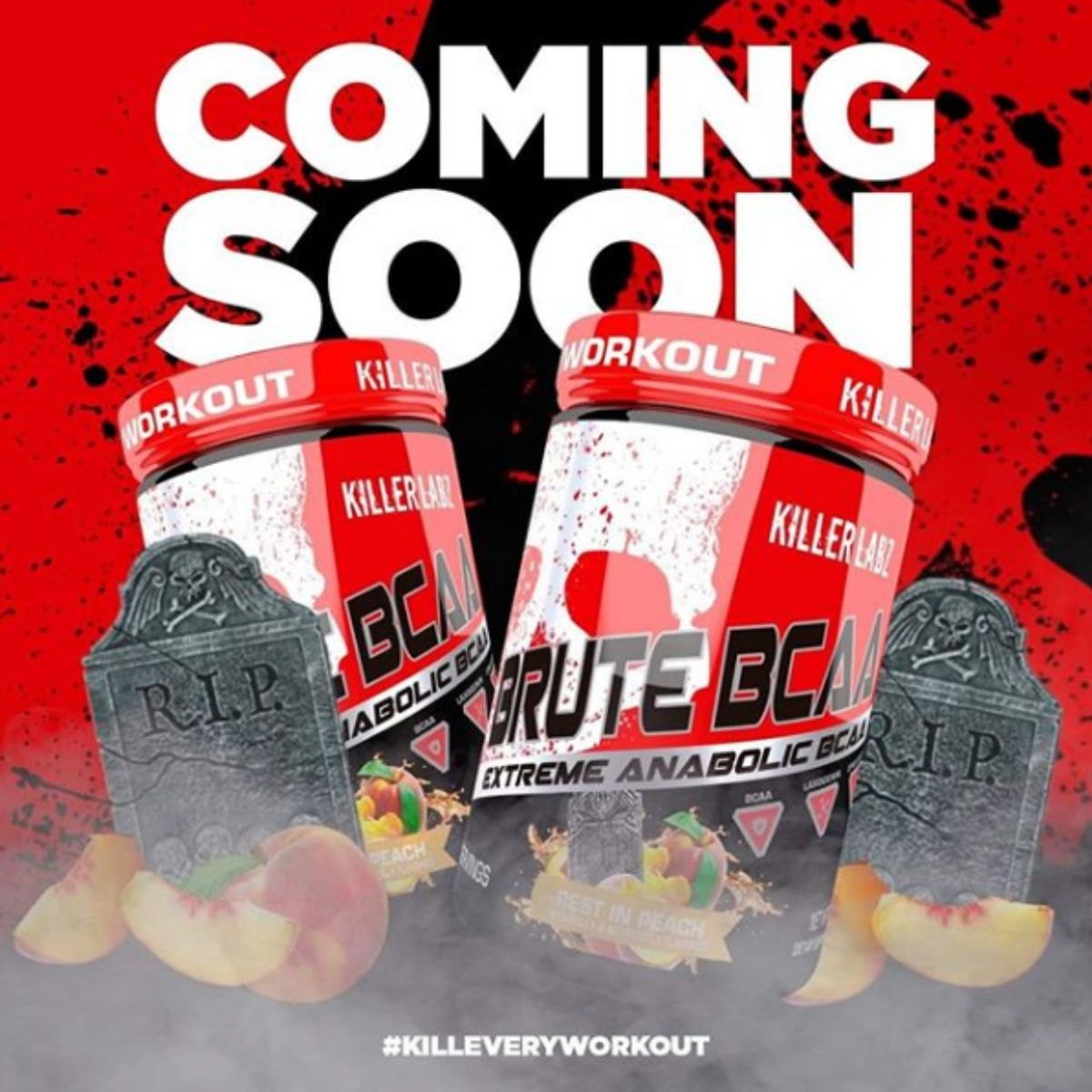 "Killer Labz Brute BCAA Gets New ""Rest in Peach"" Flavor"