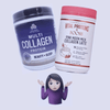 Vital Proteins x Poosh Pink Moon Milk Latte Vs. Dr. Axe Multi Collagen Protein Beauty + Sleep