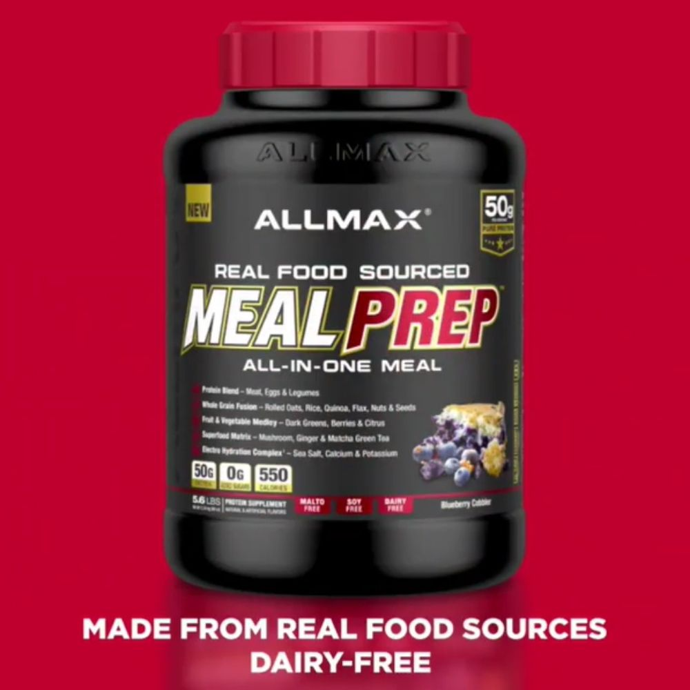 Allmax Nutrition Meal Prep, All New Real Food Meal Replacement