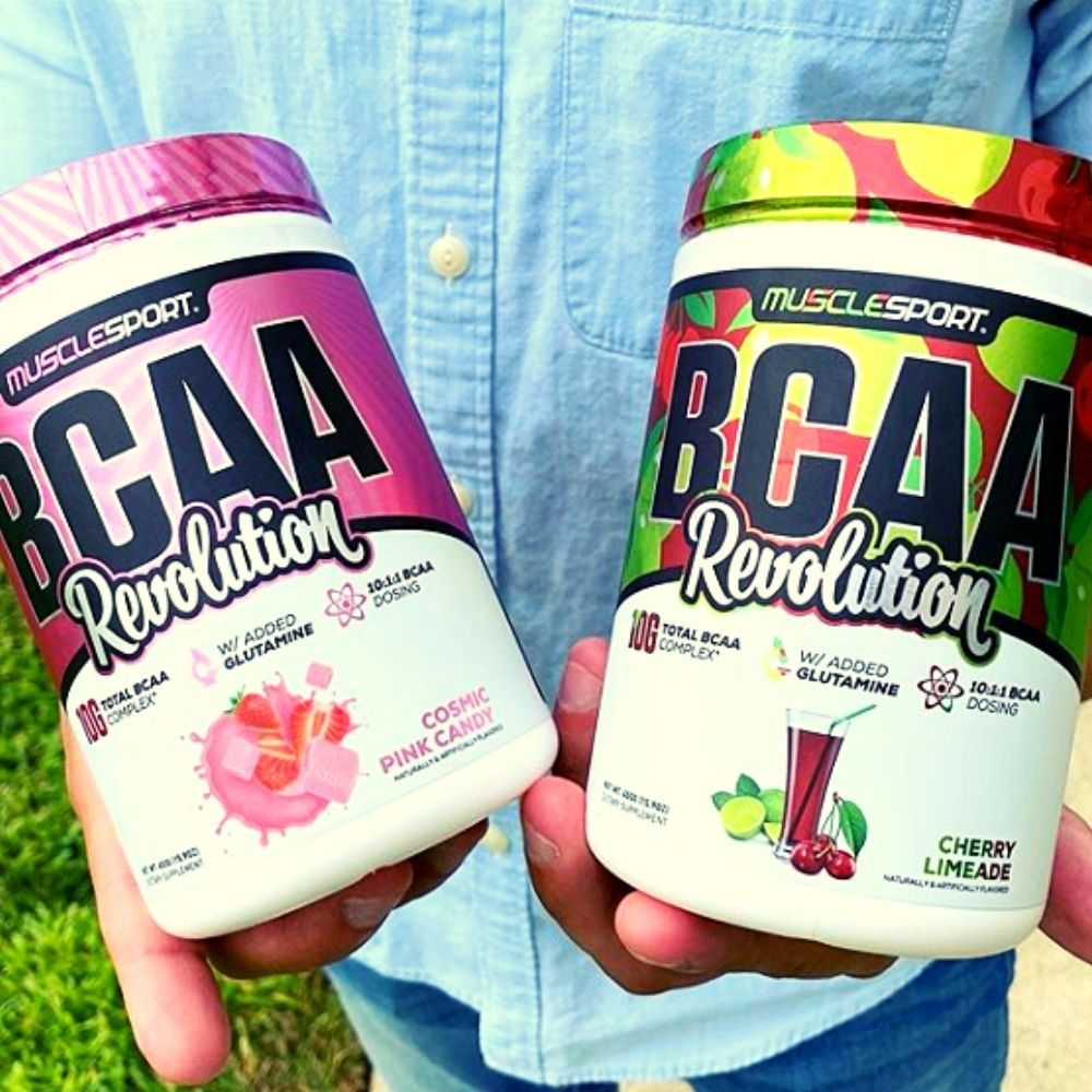 Muscle Sport BCAA Revolution Gets New Cosmic Pink Candy & Cherry Limeade Flavors