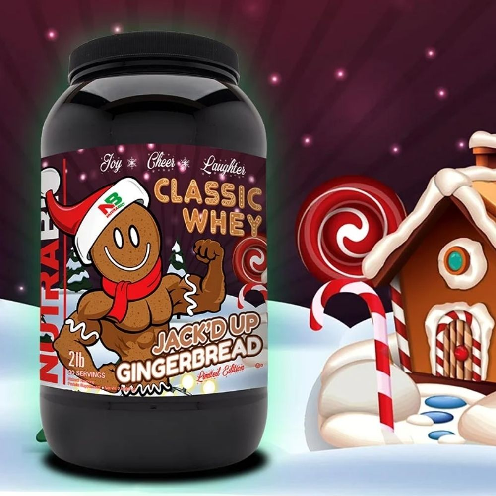NutraBio Drops New Jack'd Up Gingerbread Flavor of Classic Whey