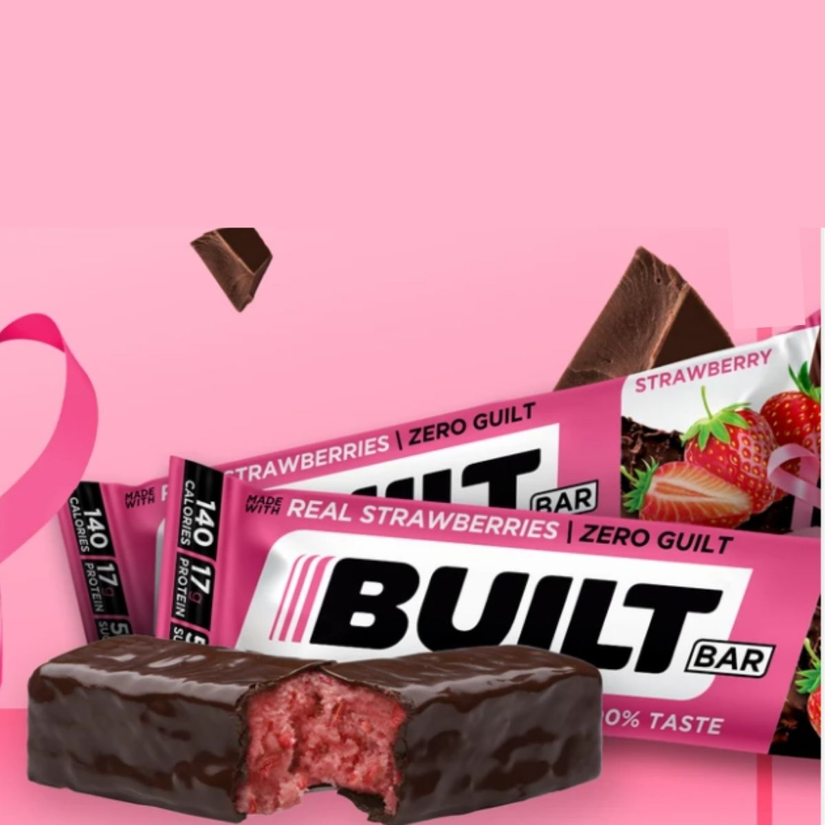 Built Bar Launching Special Edition Pink Strawberry Bar for Breast Cancer Awareness Month