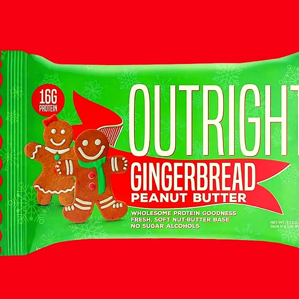 Outright Bar Launches New Seasonal Gingerbread Peanut Butter Flavor