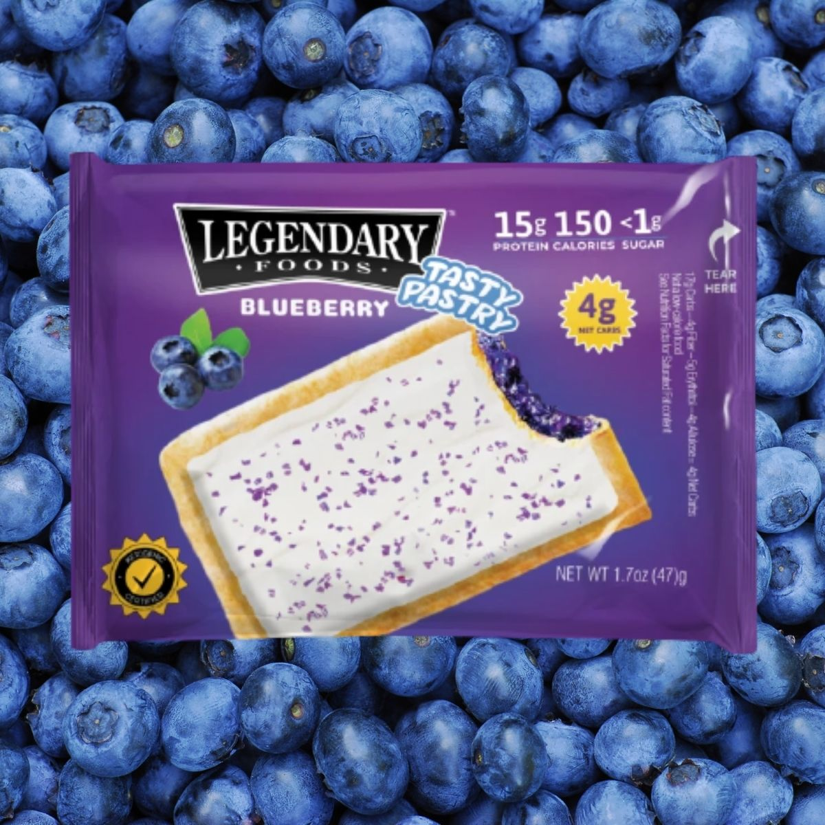 "Legendary Foods ""Pop Tart"" Like Pastry Gets a New Blueberry Flavor"