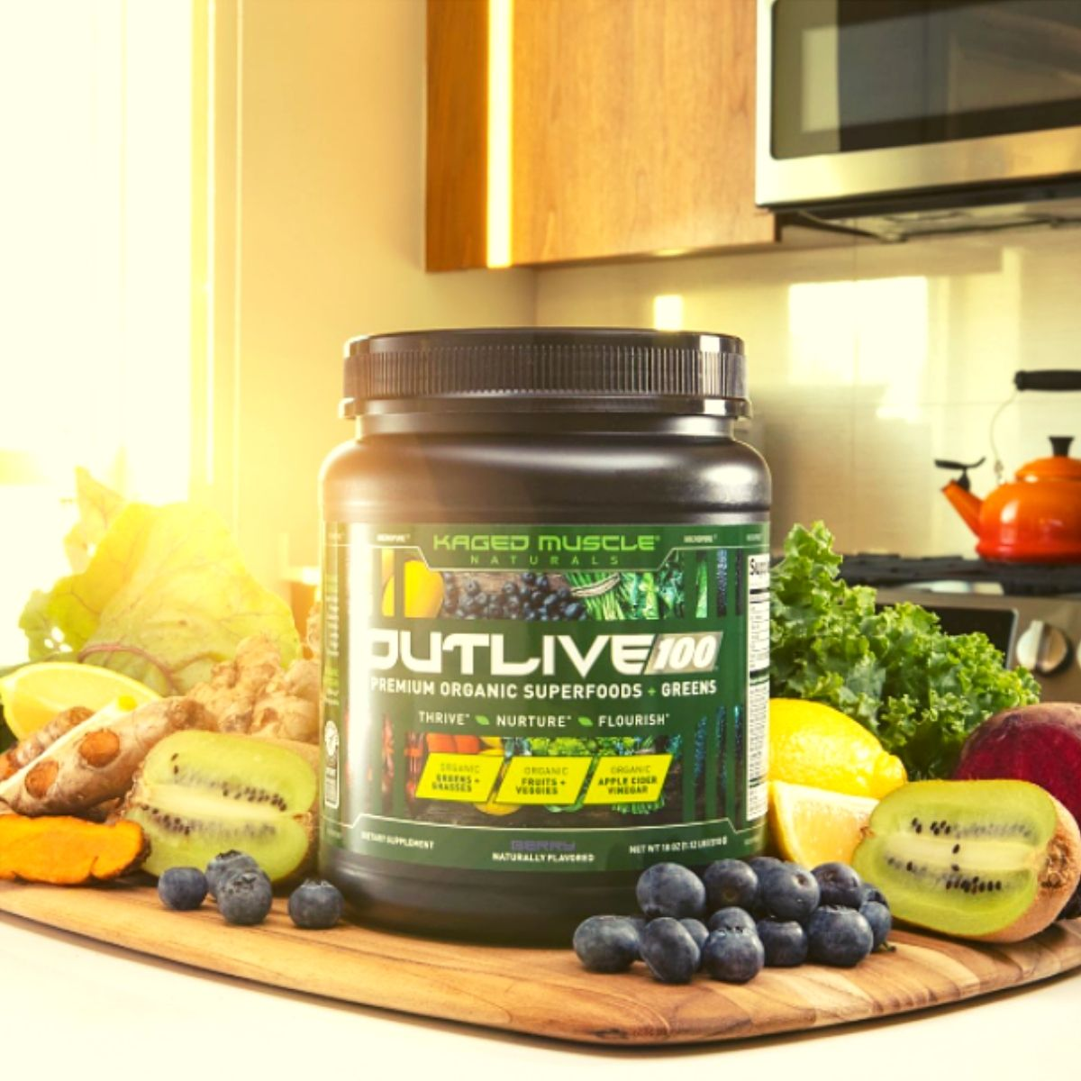 Kaged Muscle's New Outlive100 Greens Formula Coming Soon
