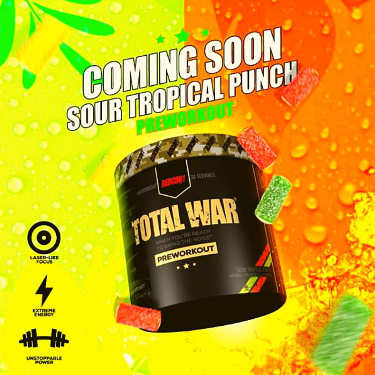 Redcon1 Keeps the New Total War Flavors Coming, Sour Tropical Punch Flavor Just Announced