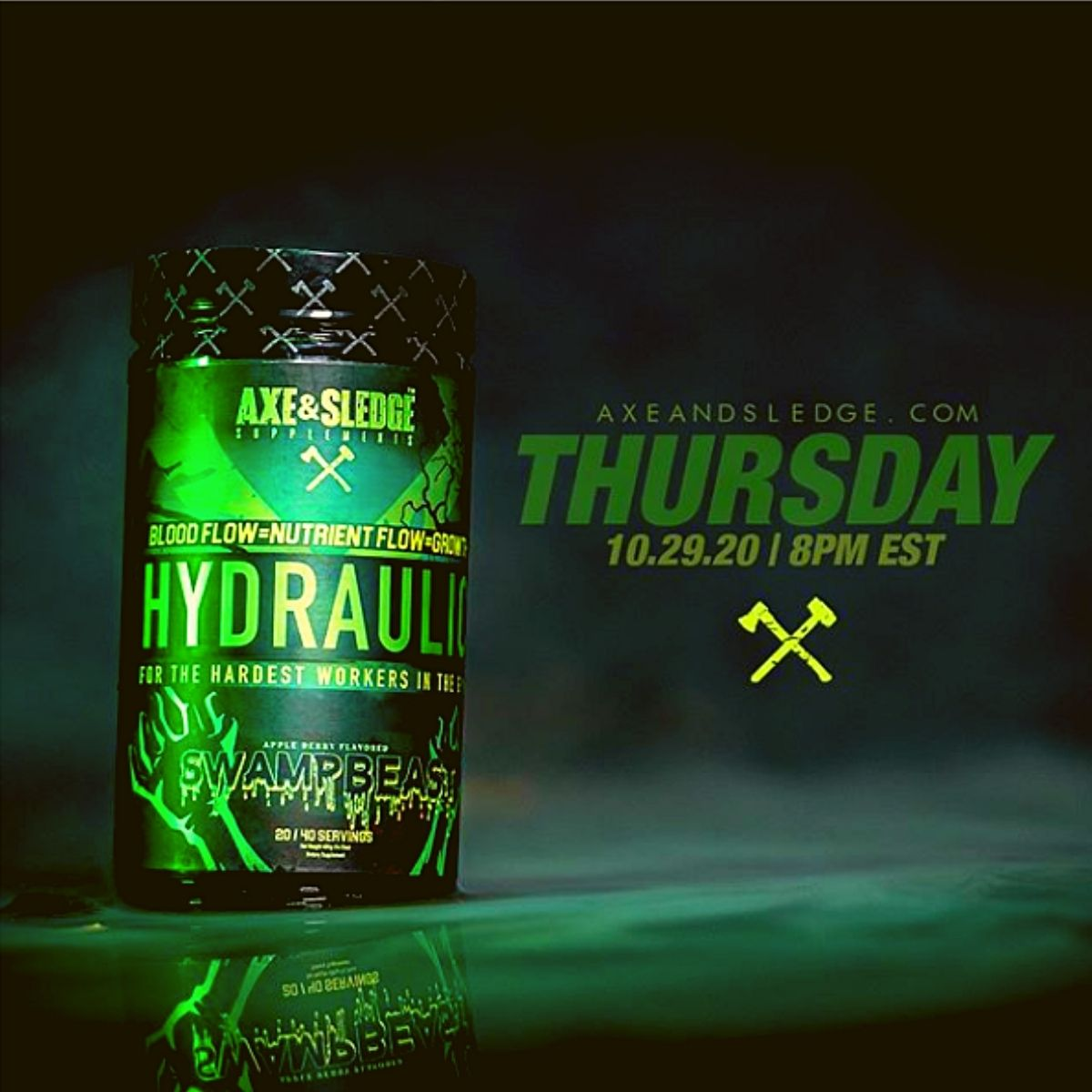 Axe & Sledge's Hydraulic Pre-Workout Gets the Swamp Beast Flavor