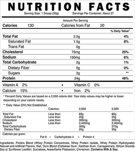 Blackstone Labs 3-Whey Protein Label