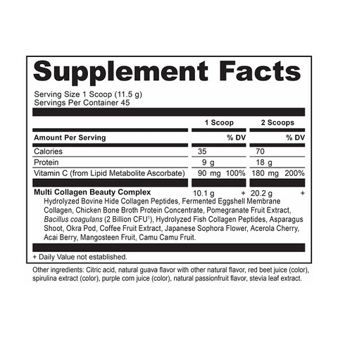 Ancient Nutrition Multi Collagen Protein Beauty Within Ingredients