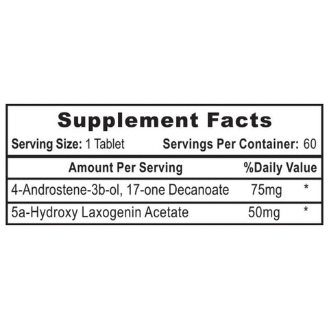 Androdiol Supplement Facts Label