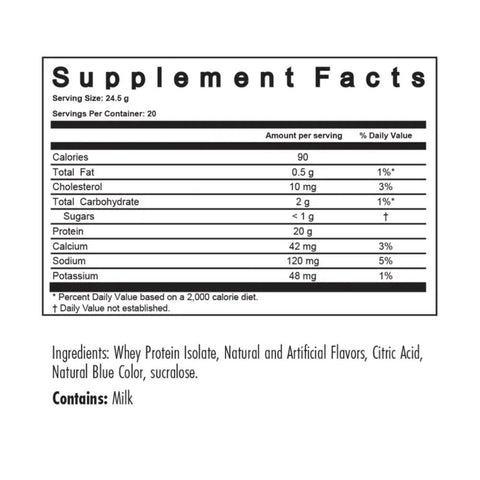 Modern ISO Whey Protein Isolate Ingredients