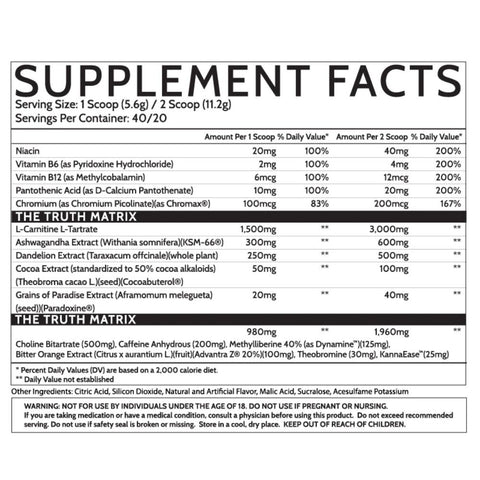 Inspired Nutra Ember Thermogenic Ingredients