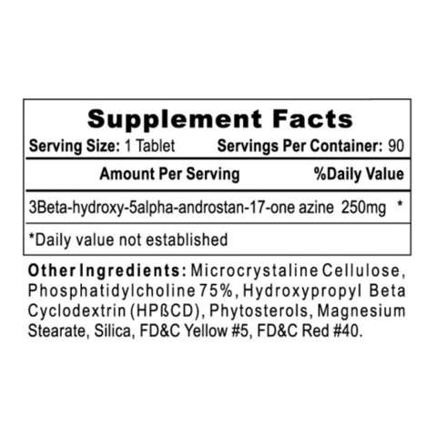 Dymethazine Supplement Facts Stack