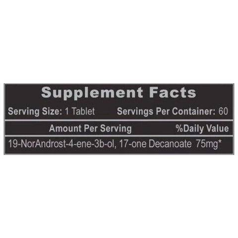 Decabolin Supplement Label