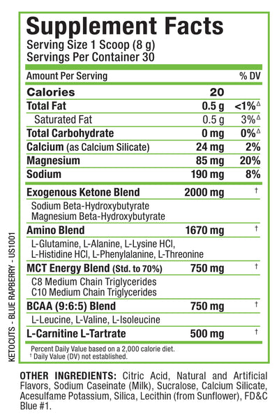 Allmax Nutrition Keto Cuts Label