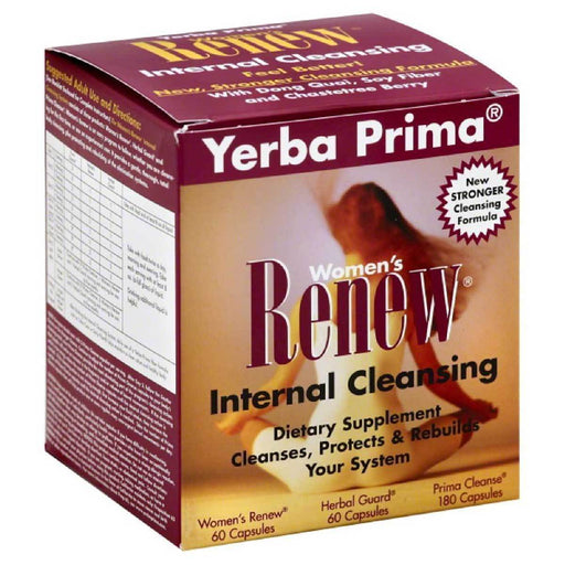 Yerba Prima Vitamins, Minerals, Herbs & More Yerba Prima Women's Renew (colon cleanser) 1 Box (580497440812)