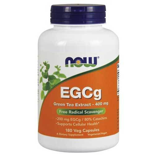 Now Foods Vitamins, Minerals, Herbs & More Now Foods EGCG Green Tea Extract 400mg 180 Vege Caps (582318751788)