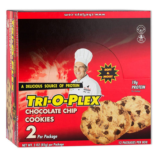Chef Jay's Sports Nutrition & More Oatmeal Raisin Chef Jay's Tri-O-Plex Cookies 12-2 Packs (580801593388)