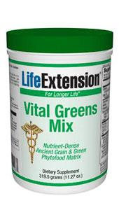 Life Extension Vitamins, Minerals, Herbs & More Life Extension Vital GreensMix 319.5 grams (11.27 oz.) (581072125996)