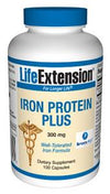 Life Extension Vitamins, Minerals, Herbs & More Life Extension Iron Protein Plus 300mg 100 Caps