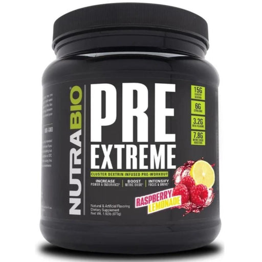 NutraBio Pre Extreme 20/Servings Raspberry Lemonade (4380745039987)