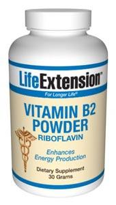 Life Extension Vitamins, Minerals, Herbs & More Life Extension Vitamin B2 30 grams (581087395884)
