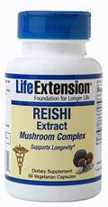 Life Extension Vitamins, Minerals, Herbs & More Life Extension Reishi Extract 60 Vege Caps (581617975340)