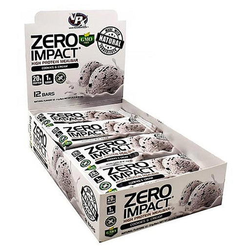 VPX Sports Nutrition & More Cookies & Cream Zero Impact Bar 12/Box (582617071660)