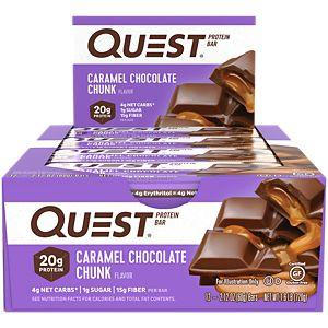 Quest Nutrition Caramel Chocolate Chunk Quest Nutrition Quest Bar Natural 12/Box (581382111276)