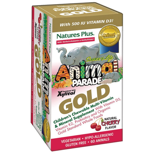 Nature's Plus Vitamins, Minerals, Herbs & More Nature's Plus Animal Parade Gold (Kids Chewable Multi) Natural Cherry 60 tabs (581196939308)